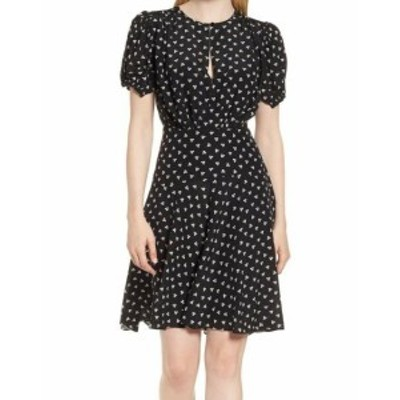 ファッション ドレス Lewit NEW Black Womens Size 6 Geo Printed Keyhole Sheath Dress Silk