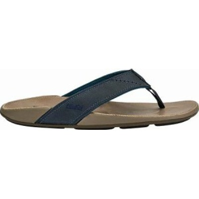 OluKai メンズサンダル OluKai Nui Flip Flop Trench Blue/Clay