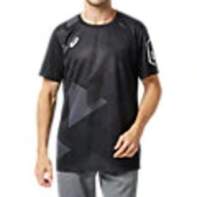 アシックス Tシャツ LIMO昇華グラフィックショートスリーブトップ 2031B201 パフォーマンスブラック メンズ 2020SS ゆうパケット(メール便)対応