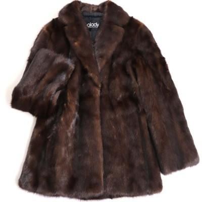 極美品▼Palody MINK パロディ ミンク 本毛皮コート ダークブラウン 毛質艶やか・柔らか◎
