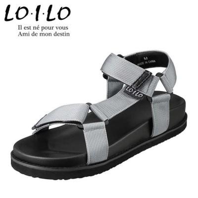 ロイロ LO・I・LO 9315 レディース | サンダル | スポーツサンダル スポサン | フットベッド | 人気 トレンド | グレー