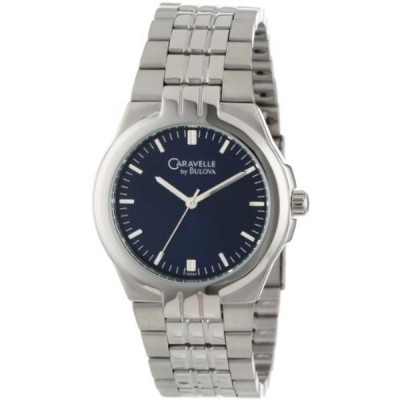 ブローバ 腕時計 メンズウォッチ Caravelle by Bulova Men's 43A04 Bracelet Blue Dial Watch