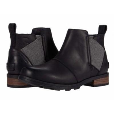 SOREL ソレル レディース 女性用 シューズ 靴 ブーツ チェルシーブーツ アンクル Emelie Chelsea Black 1【送料無料】