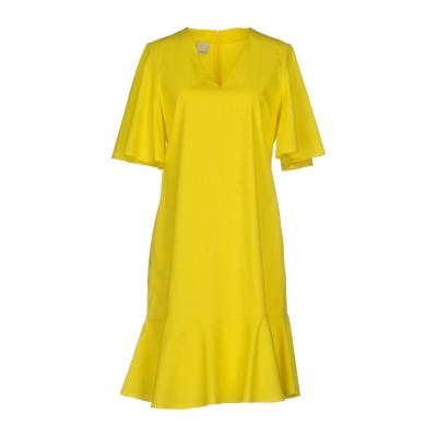 ピンコ PINKO ミニワンピース&ドレス イエロー 40 コットン 100% ミニワンピース&ドレス