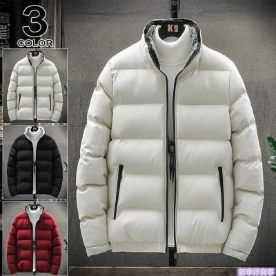 ダウンジャケット メンズ ハイネック 中綿ジャケット キルティング 防寒 暖 ジャケット あたたか 冬服 メンズファッション