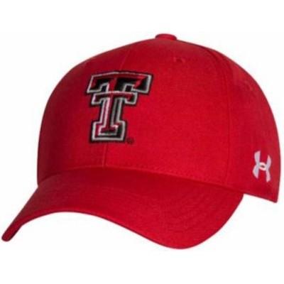 アンダーアーマー メンズ 帽子 アクセサリー Under Armour Men's Texas Tech Red Raiders Red Adjustable Hat -
