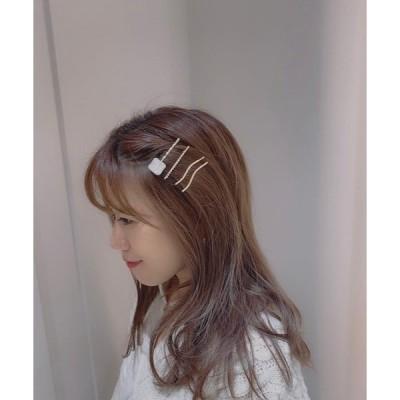 ヘアクリップ 【Mignonjour】クリアストーンヘアクリップセット