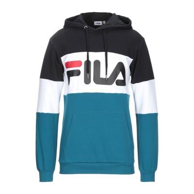 FILA スウェットシャツ ブラック M コットン 87% / ポリエステル 13% スウェットシャツ