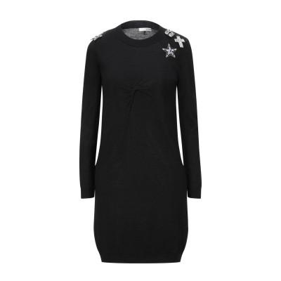 レリッシュ RELISH ミニワンピース&ドレス ブラック XS レーヨン 40% / ナイロン 30% / ウール 30% ミニワンピース&ドレス