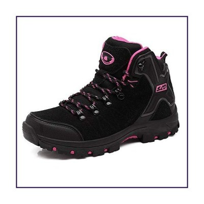 Womens Hiking Boots Trekking Shoes Anti-Collision mid Heel Non-Slip Climbing Boots (7.5 B(M) US, Black)【並行輸入品】