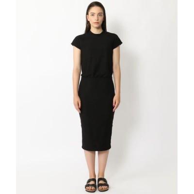 TOMORROWLAND/トゥモローランド コットンジャージー Tシャツドレス WVD6474 19 ブラック 1(M)