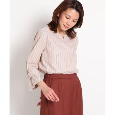 SunaUna / スーナウーナ 【洗える】ストライプブロードシャツ