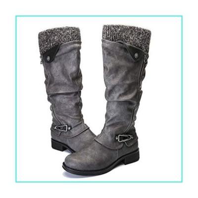 【新品】Camfosy High Boots for Women Low Heel, Winter Warm Fur Lined Knee High Boots Side Zipper Casual Comfort Outdoor Tall Shaft Boots