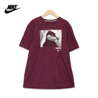 ナイキ Nike バージニアテック・ホーキーズ ホーキーバード プリント 半袖Tシャツ メンズXLサイズ マルーン ユーズド 古着 t200625-78