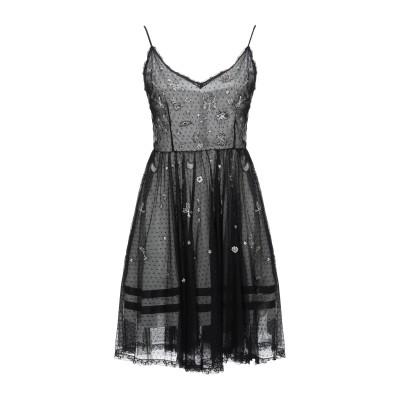 ERMANNO DI ERMANNO SCERVINO ミニワンピース&ドレス ブラック 36 ナイロン 100% ミニワンピース&ドレス