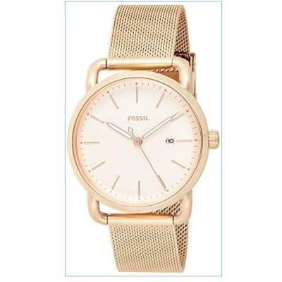 Fossil Women's The Commuter Quartz Stainless Steel Mesh Casual Watch Strap, Rose Gold, 16 (Model: ES4333)並行輸入品