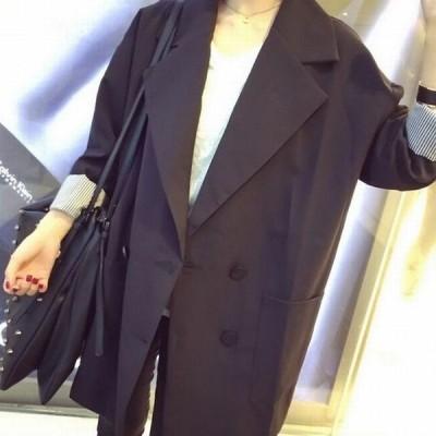 テーラードジャケット ダブルブレスト ジャケット オーバーサイズ レディース アウター 羽織 メンズライク マニッシュ 無地 ピンストライプ裏地