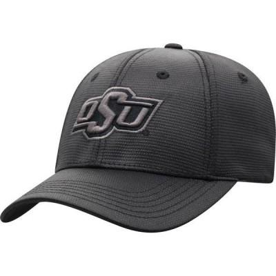 トップオブザワールド メンズ 帽子 アクセサリー Top of the World Men's Oklahoma State Cowboys Progo 1Fit Flex Black Hat