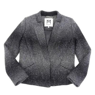 未使用 ミリー MILLY タグ付 2013年商品 グラデーション×スパンコール ウール ジャケット 4 グレー