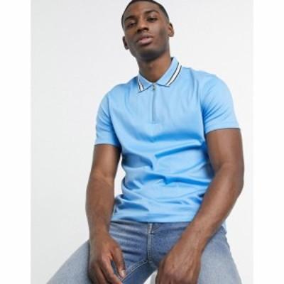 ヒューゴ ボス BOSS メンズ ポロシャツ トップス Business Paras Placket Polo Shirt ブルー