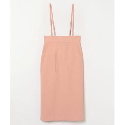 【アルアバイル/allureville】 ポリエステルツイルサロペットスカート