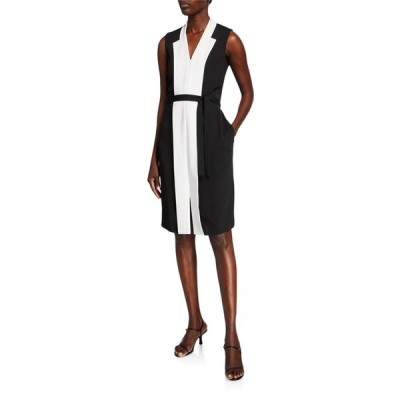 ピアッツァ センピオーネ レディース ワンピース トップス Colorblocked Cady Tie-Waist Dress