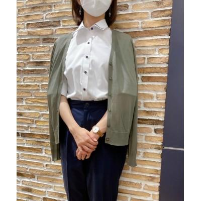形態安定ノーアイロン マイターレギュラー衿 5分袖ビジネスワイシャツ