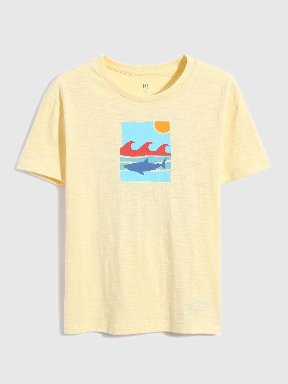 男童 趣味印花純棉短袖T恤