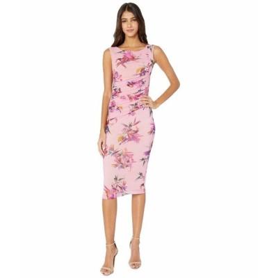 フィッジ ワンピース トップス レディース Sleeveless Knee Length Uccello Del Paradiso Print Dress Fiore