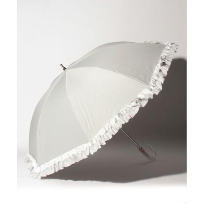【ムーンバット】 LANVIN en Blue(ランバン オン ブルー)晴雨兼用日傘 グログランフリル ユニセックス ライト グレー メーカー指定サイズ MOONBAT