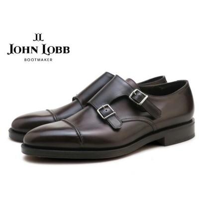 ジョンロブ ウィリアム2 ダークブラウン ダブルモンクストラップシューズ ダブルレザーソール イギリス製 メンズ ビジネス ドレス JOHN LOBB WILLIAM2 DARK BR…