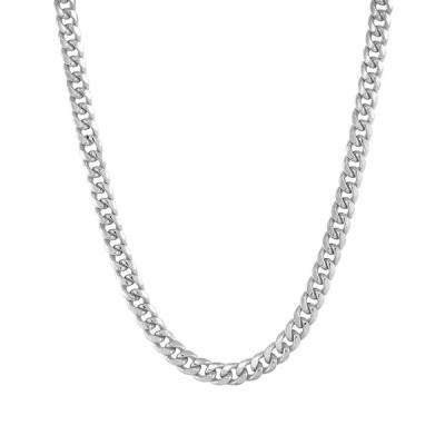 """イタリアン ゴールド ネックレス・チョーカー・ペンダントトップ アクセサリー レディース Miami Cuban Link 18"""" Chain Necklace in 10k Gold White Gold"""