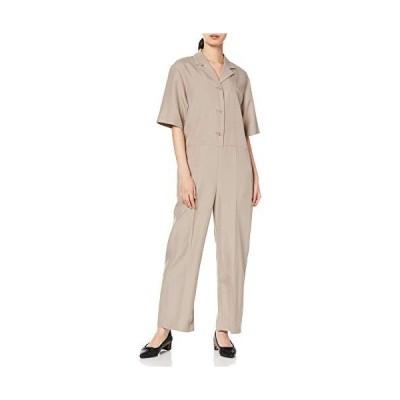 [ミラオーウェン] 開襟半袖ジャンプスーツ 09WFO201212 レディース BEG 日本 0 (日本サイズ7 号相当)
