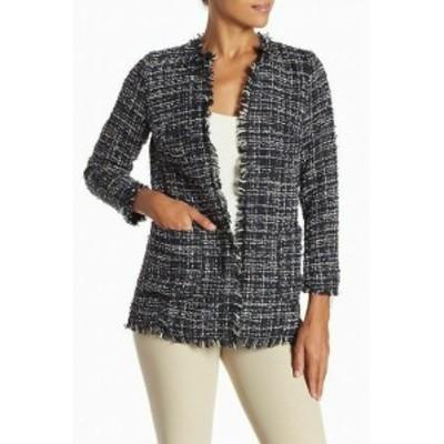 ファッション 衣類 Catherine Malandrino NEW Black Womens Size XL Boucle Knit Topper Jacket