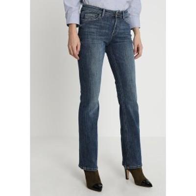 エスプリ レディース デニムパンツ ボトムス Bootcut jeans - blue dark wash blue dark wash