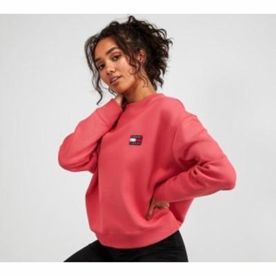 トミー ジーンズ Tommy Jeans レディース スウェット・トレーナー トップス logo relaxed fit sweatshirt Claret Red