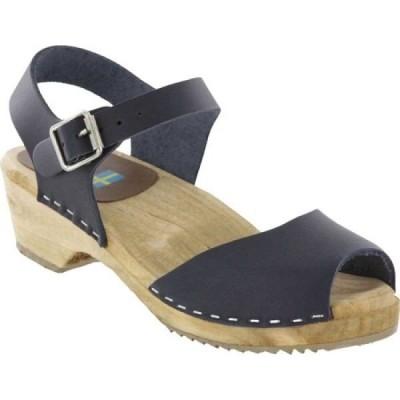 ミア Mia レディース クロッグ シューズ・靴 Anja Clog Sandal Navy Italian Leather