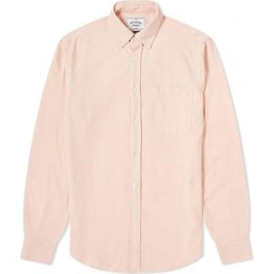 ポーチュギースフランネル Portuguese Flannel メンズ シャツ トップス belavista button down oxford shirt Old Rose