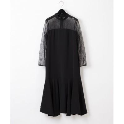 GRACE CONTINENTAL/グレースコンチネンタル レース切替ドレス ブラック 36