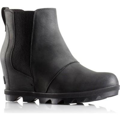 ソレル Sorel レディース ブーツ チェルシーブーツ ウェッジソール シューズ・靴 Joan of Arctic Wedge II Chelsea Boots Black
