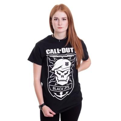 コール オブ デューティ Call Of Duty レディース Tシャツ トップス Black Ops Skull T-Shirt black