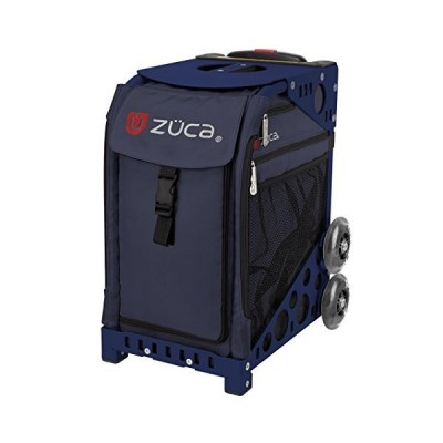 ZUCA Midnight Sport Insert Bag and Navy Blue Frame with Flashing Wheels