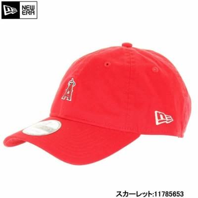 NEW ERA ニューエラ 11785653 ロサンゼルス エンゼルス ミニロゴ スカーレット 赤 RED 9TWENTY クロスストラップ CAP