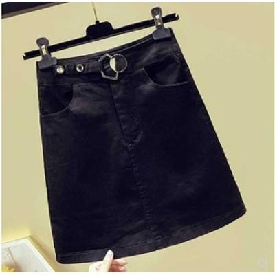 予約商品 大きいサイズのレディース 夏新作  ボトムス スカート ミニスカート シンプル デニム 夏新作 ゆったり 体型カバー オーバーサイ