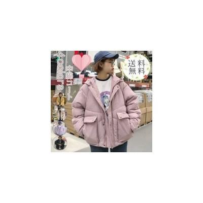 中綿コート レディース 厚手 ダウン風ジャケット 無地 シンプル ショート丈 フード付き 防寒 あったか 暖かい きれいめ アウター おしゃれ