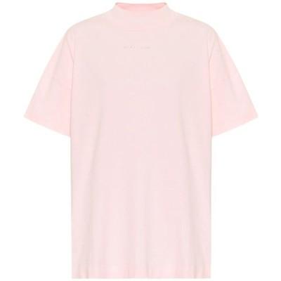 アリクス 1017 ALYX 9SM レディース Tシャツ トップス logo cotton-jersey t-shirt Pink