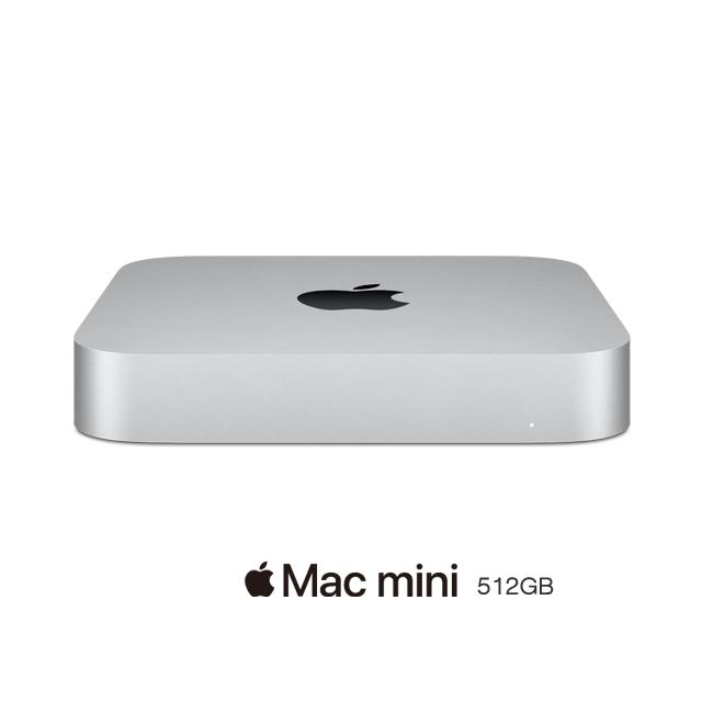 Mac mini: Apple M1 chip with 8‐core CPU and 8‐core GPU, 512GB SSD