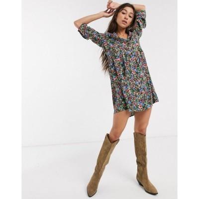 オンリー レディース ワンピース トップス Only shirt dress in floral print Multi