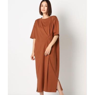 【ミューズ リファインド クローズ】 ネジリカットワンピース レディース ブラウン M MEW'S REFINED CLOTHES
