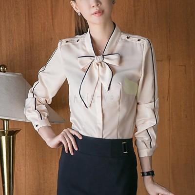 ワイシャツ シャツ ブラウス レディース 20代 30代 ビジネス 女性 おしゃれ きれいめ 無地 OL 長袖 オフィス 通勤 仕事